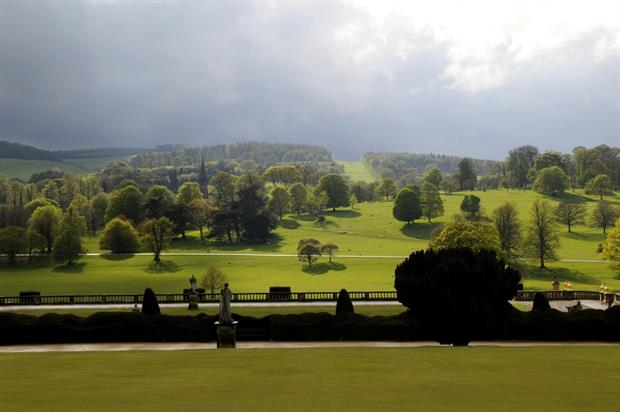 Chatsworth's Capability Brown-designed parkland. Image: Matthew Bullen/Chatsworth House Trust