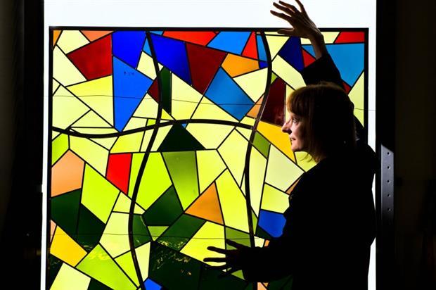 Janet Parkin, window designer for Matthew Wilson's garden. Image: Supplied