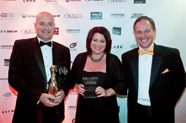 L-R Chequers chairman Gary Jeal, marketing director Kate Ward and Steve Rapley from UK Trade and Investment. Image: Supplied