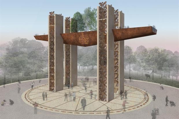 The winning triumphal arch design. Image: Chris Dyson Architects