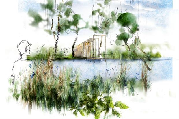 Artist's impression of the Cloudy Bay Chelsea show garden for 2016. Image: Supplied