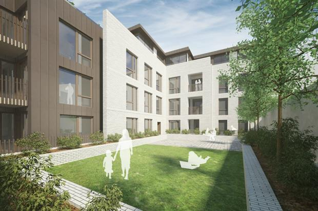 Two communal gardens part of scheme approved by planners. Image: ColladoCollins