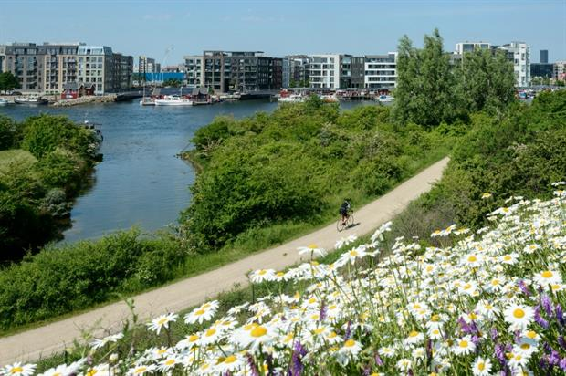 The Havneruten Harbour Ring Route in Copenhagen. Image: Christian Lindgren