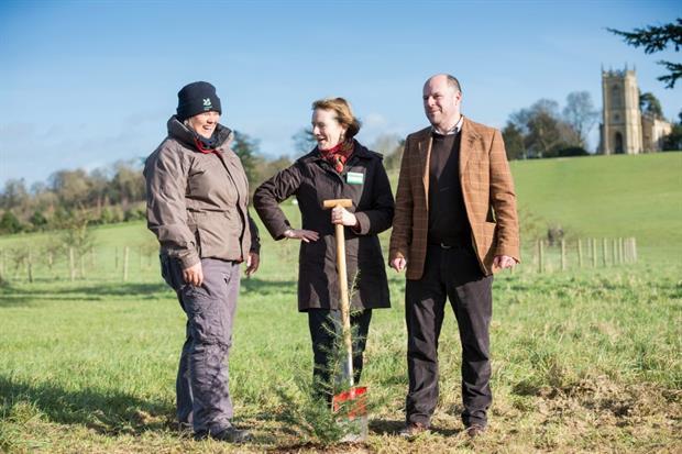 L-R Katherine Alker, Helen Gosh & Croome general manager Michael Forster-Smith. Image: National Trust/James Dobson