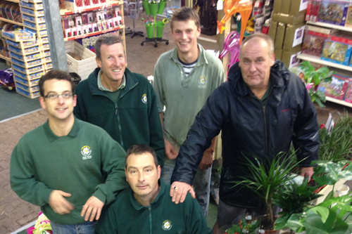 Sales team of the year - Sidmouth Garden centre - image: HW