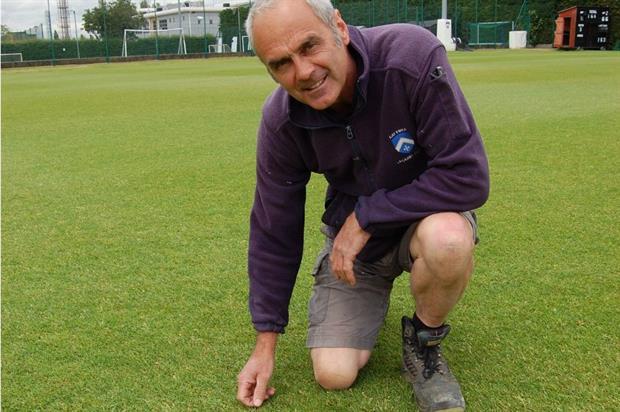 Latymer Upper School head groundsman Dale Gleed. Image: Rigby Taylor