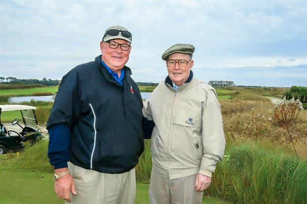Father and son design team: Perry Dye (left) with Pete Dye. Image: Hiseman Photo
