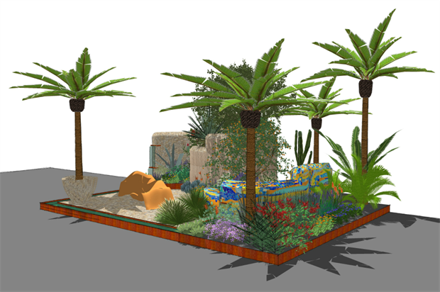 Sarah Eberle's design for the 2017 Viking Cruises garden