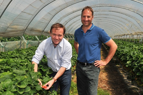 George Eustice MP with HHP director Harry Hall - image:LEAF
