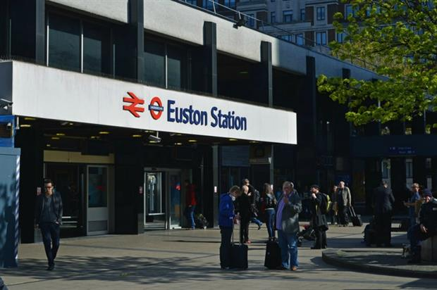 London Euston today has public realm outside. Image: Geograph/The Carlisle Kid