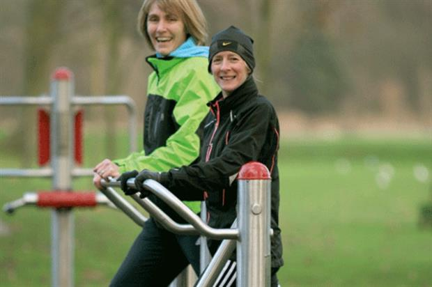 Exercising in parks is gaining in popularity