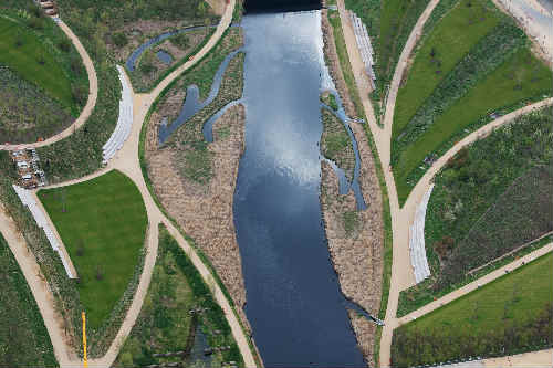 View of the Queen Elizabeth Olympic Park (taken April 2012) - image: LOCOG