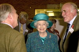 The Queen meets RFS members John Hunt (left) and Lord Clinton - photo: RFS