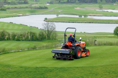 Golf courses: maintenance will include an enormous variety of surfaces, from bunkers to fairways to the greens themselves - image: Toro Commercial Products