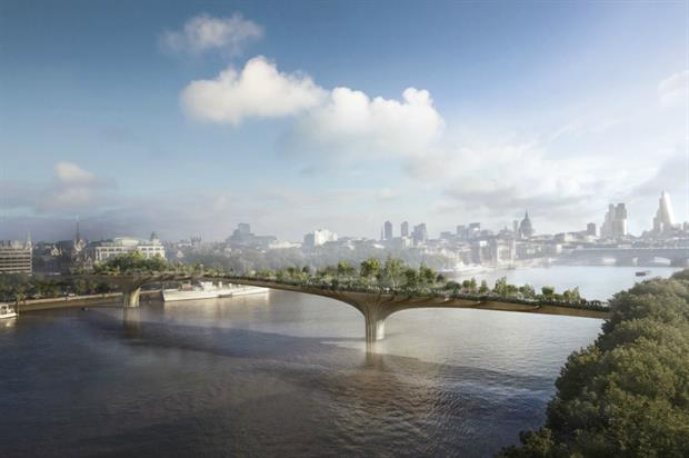 CGI of how the Garden Bridge might look
