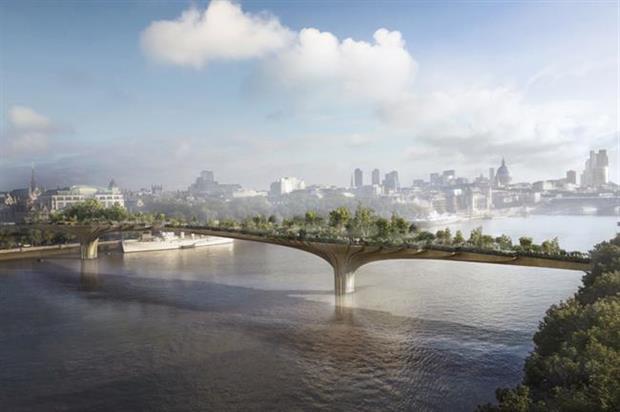 Garden Bridge concept. Image: Arup