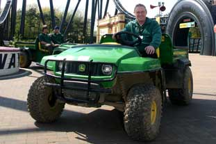 The Gator, used to carry many tonnes of soil and bark chips - photo: John Deere