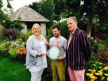 Sue Biggs, Paul Hervey Brookes, Dougal Philip at the Perennial garden