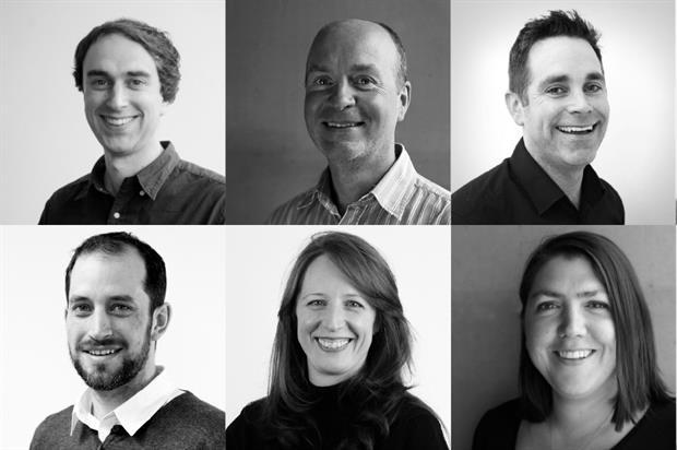 Clockwise from top left: Armel Mourgue, Warren Chapman, Adam Greatrix, Helen Johnson, Gorana Shepherd and Philip Smith