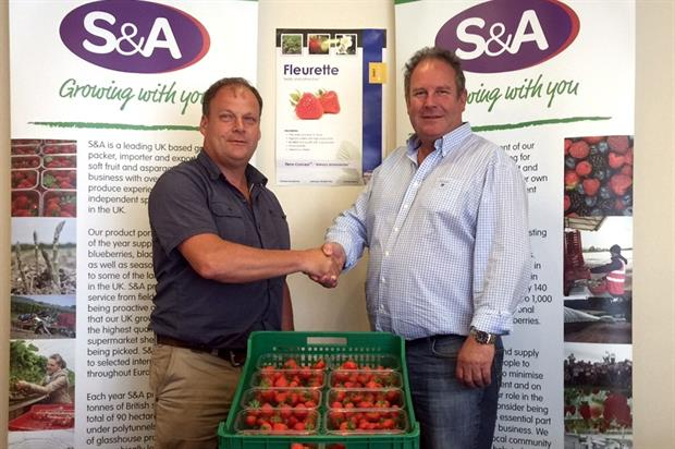 Jos Goossens (left) with S&A Produce owner John Davies - Image: S&A