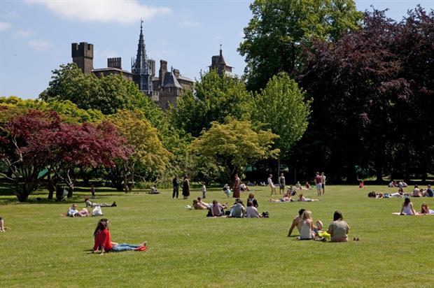 Gorsedd Lawn, Bute Park. Image: Cardiff Council