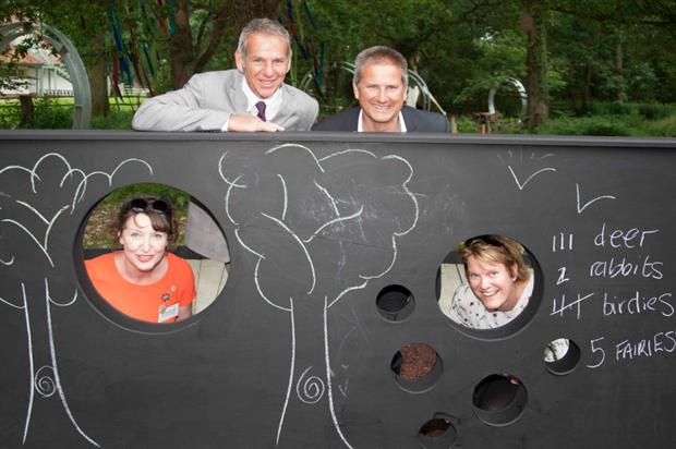 Garden designer Ann-Marie Powell, Mark Winrow & Rode Winrow of Garden House Design and Emma Hanford from Greenfingers