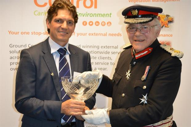 Ground Control chief executive Simon Morrish with Queen's representative Lord Lieutenant of Essex