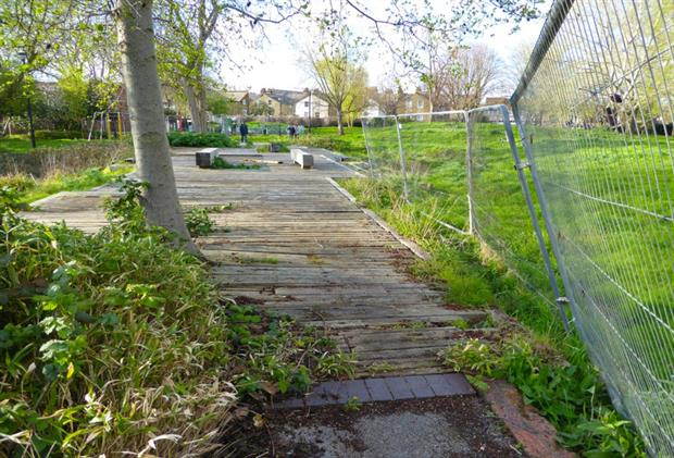 One example of parks experiencing 'decline and neglect'.  Image copyright Peter Neal