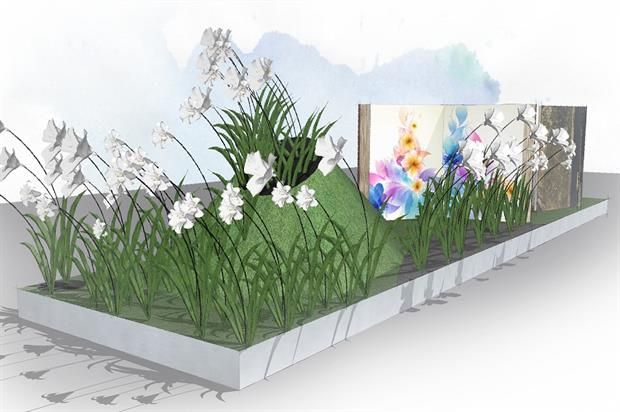 Artist's impression of the Harrods garden for RHS Chelsea Flower Show 2015 - image: Sheena Seeks