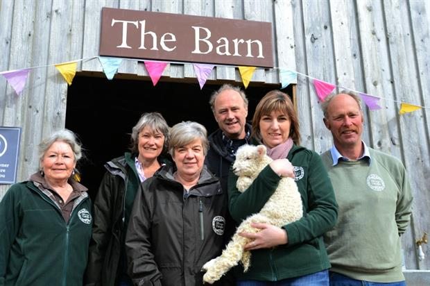 Heligan's longest serving staff  (l-r) Crowle, Candy Smit, Giles, Tim Smit, Stephens and Burns. Image: LGoH