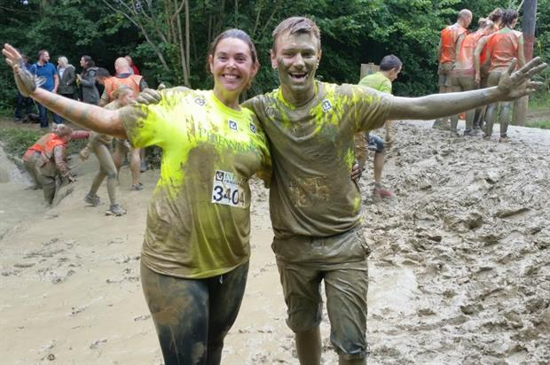 Claire Vokins and Jamie Butterworth get muddy for Perennial. Image: Supplied
