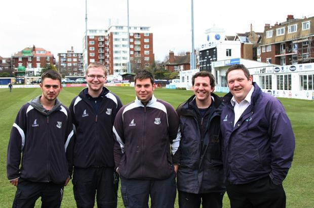 Groundsmen at Sussex County Cricket Club