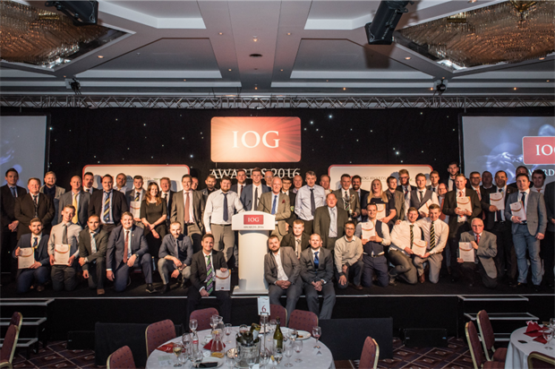 The winners gathered at last night's event