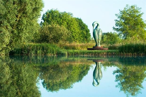 Isis Evening, a sculpture at Pallington Lakes. Image: Supplied