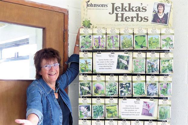 McVicar: promoting her Mr Fothergill's herb seed range - image: Jekka McVicar