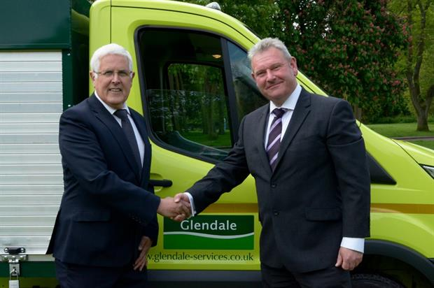 Glendale Midlands' Andy Ansell (right) with Cllr Ken Hawkins. Image: Glendale