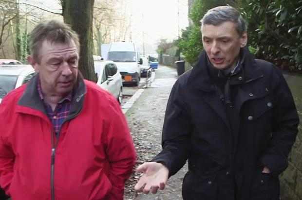 Barrell (right) explains his views to Kershaw - image:BBC