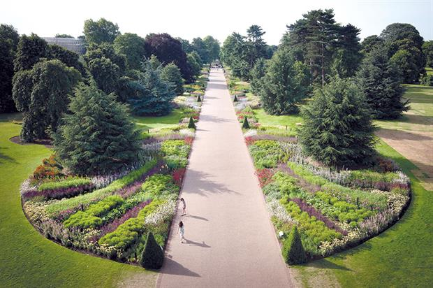 RBG, Kew: Great Broad Walk Borders themed around science strategy to offer relevance to the gardens' function - image: Jeff Eden/RBG, Kew