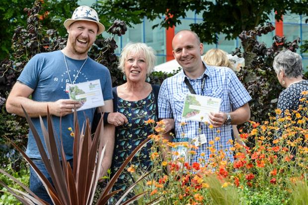 (L - R) Martin Lines, Carol Klein and James Lanwarne at this year's show