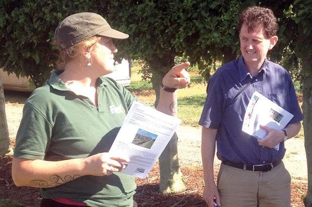 Research: Dalton (left) and Raffle at Kent orchard site