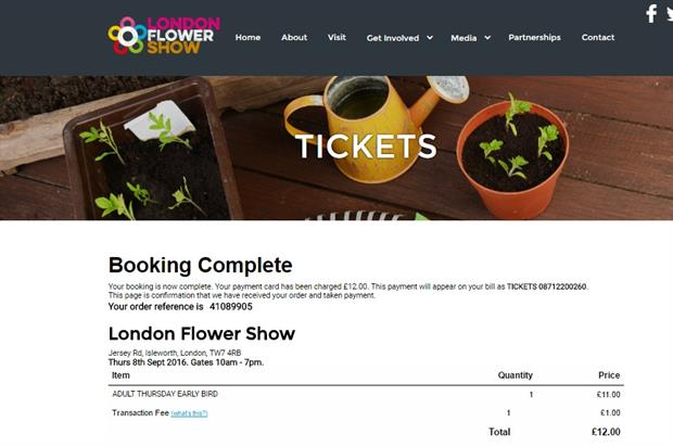 Booking complete: Long after Osterley Park announced the event was cancelled