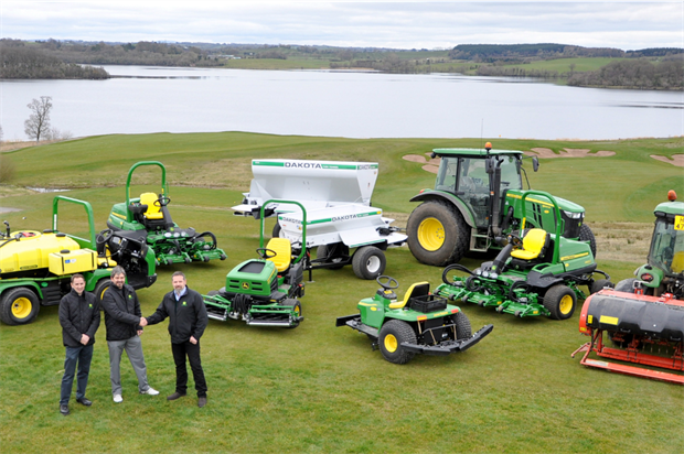 Lough Erne takes ownership of John Deere kit. Image: Supplied