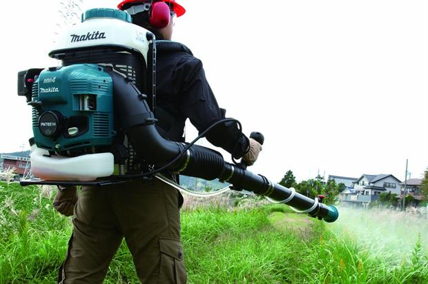 The Makita PM7651H 75.6cc back-pack mist blower