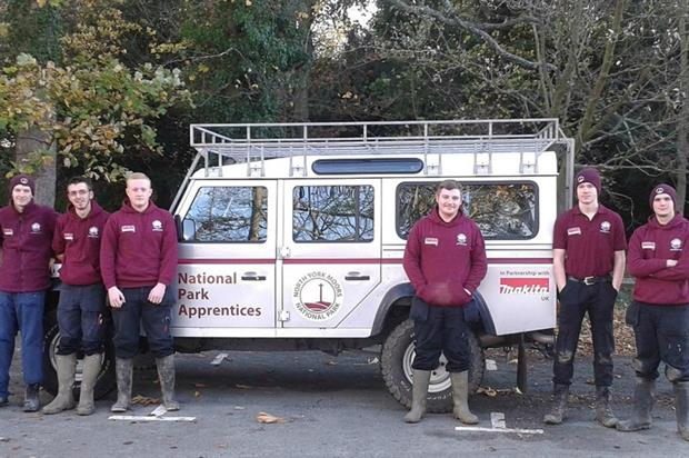 The six North York Moors National Park apprentices