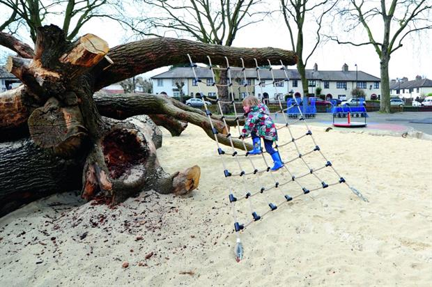 Playground: tree as centrepiece