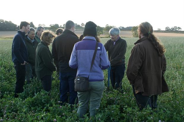 Molyneux (with spade) discusses soil health - image:HW