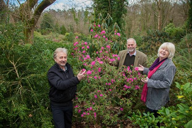 L-R Festival coordinator Tony Russell, Anthony Tavernor of Plas Cadnant & Shirley Foulkes, North Wales Tourism. Image: Supplied