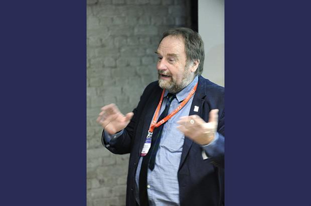 Neil Huck addresses delegates in Brussels. Image: Supplied