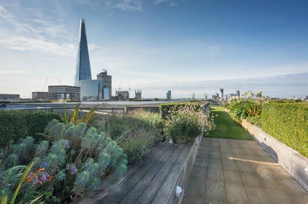 Nomura International's roof garden. Image copyright: Diane Jarvis