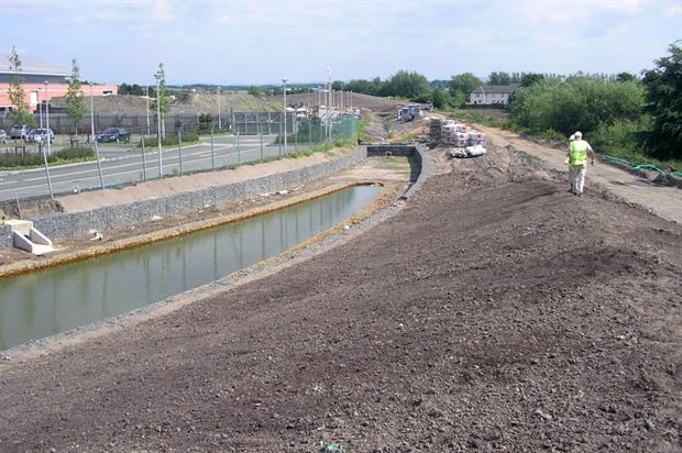 Mounds and swales under construction. Image: TOHA